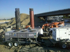 25 Ton ACC with generator at Concrete Cooling project
