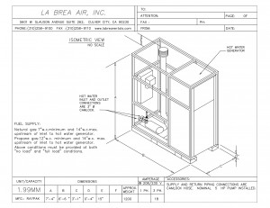 Temporary 1.99 MM Hot Water Generator