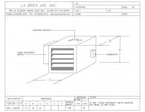 Temporary 15 Kilowatt Electric Heater With 480 Voltage