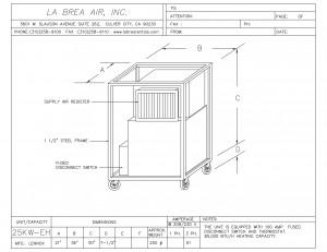 Emergency 25 Kilowatt Electric Heater