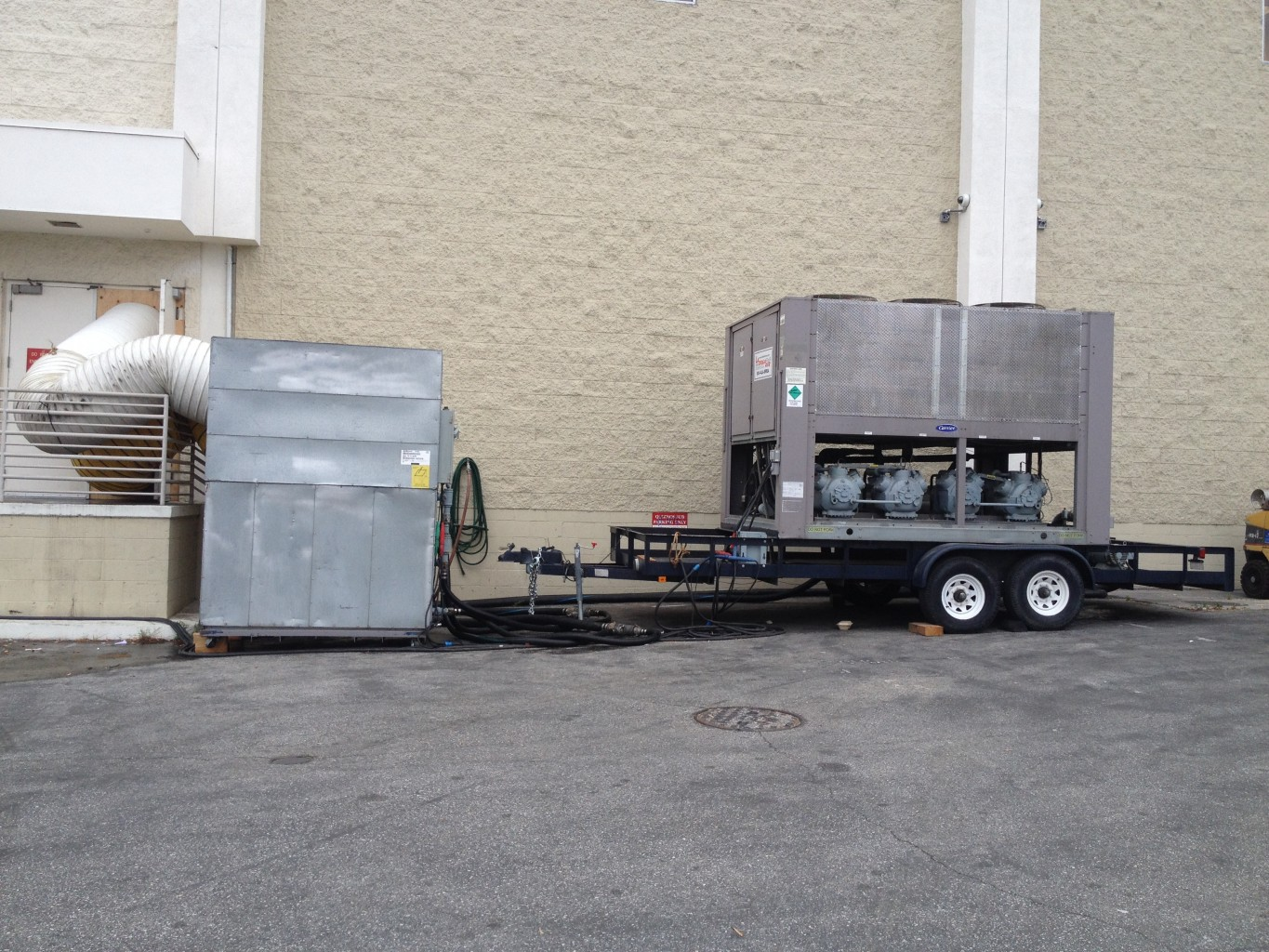 Air Cooled 100 Ton Chiller and matching air handler